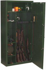 Vadászfegyver tároló szekrény