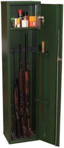 Fegyverszekrény, fegyvertrezor, lőszertároló, puskatároló, fémszekrény