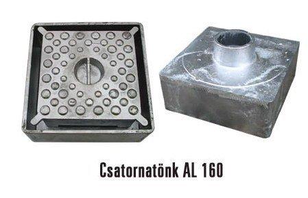 Alumínium csatornatönk 160-as