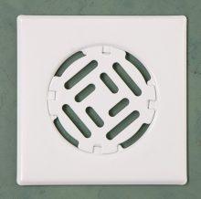 Fürdőszobai fedrács-fehér 150x150 mm
