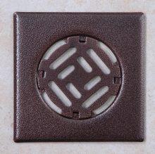 Fürdőszobai fedrács - antik bronz 150x150 mm