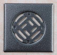 Fürdőszobai fedrács - antik ezüst 150x150 mm