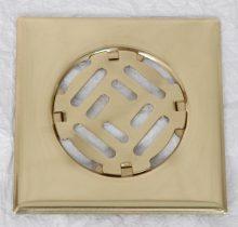Fürdőszobai fedrács- sárgaréz 150x150mm