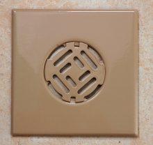 Fürdőszobai fedrács - barna 150x150 mm