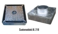 Csatornatönk 210-es alumínium