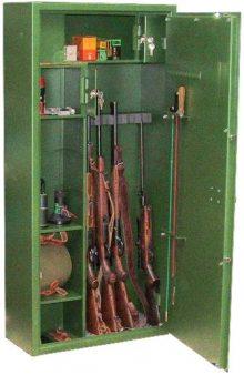 Fegyverszekrény 6 férőhelyes, polcozott- minősített