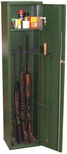 Fegyverszekrény 5 férőhelyes minősített