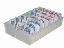Bankjegy tároló, betétlapos