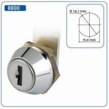 Ronis 8800 típ. félfordítós fém bútorzár